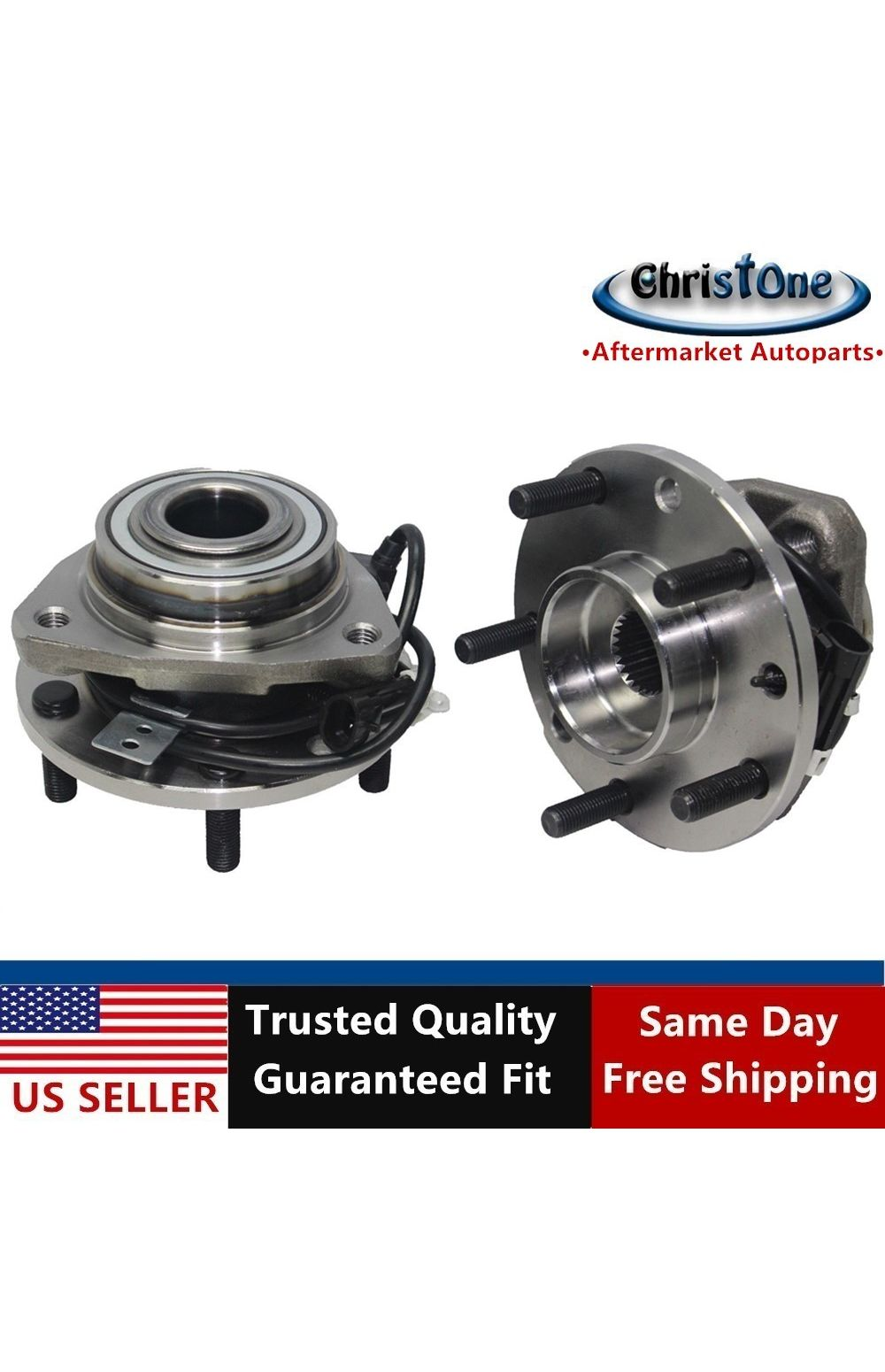 2000 fits GMC Jimmy Front Wheel Bearing and Hub Assembly Note: 4WD, AWD, 4-Wheel ABS One Bearing Included with Two Years Warranty